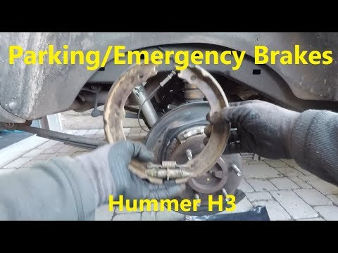 How to Replace Parking Emergency Brake Shoes in Hummer H3, GMC Canyon and Chevrolet Colorado