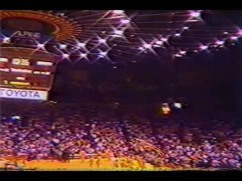 Tommy Heinsohn and Dick Stockton Celtics Lakers NBA Pre Game NBA pt1