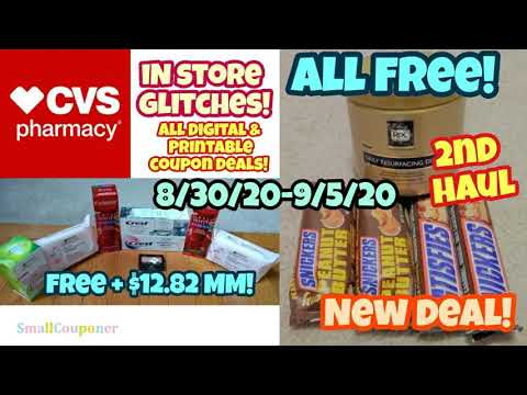CVS Haul 8/30/20-9/5/20! Glitch! All Digital and Printable Coupon Deals!