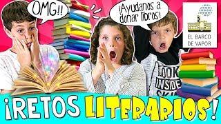 📚 ¡¡RETOS Literarios con CIENTOS de LIBROS!! 😆 Campaña Solidaria de NAVIDAD con El Barco de Vapor