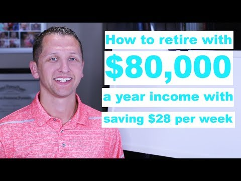 "<span class=""title"">How to retire with $80,000 year income with saving $28 per week</span>"