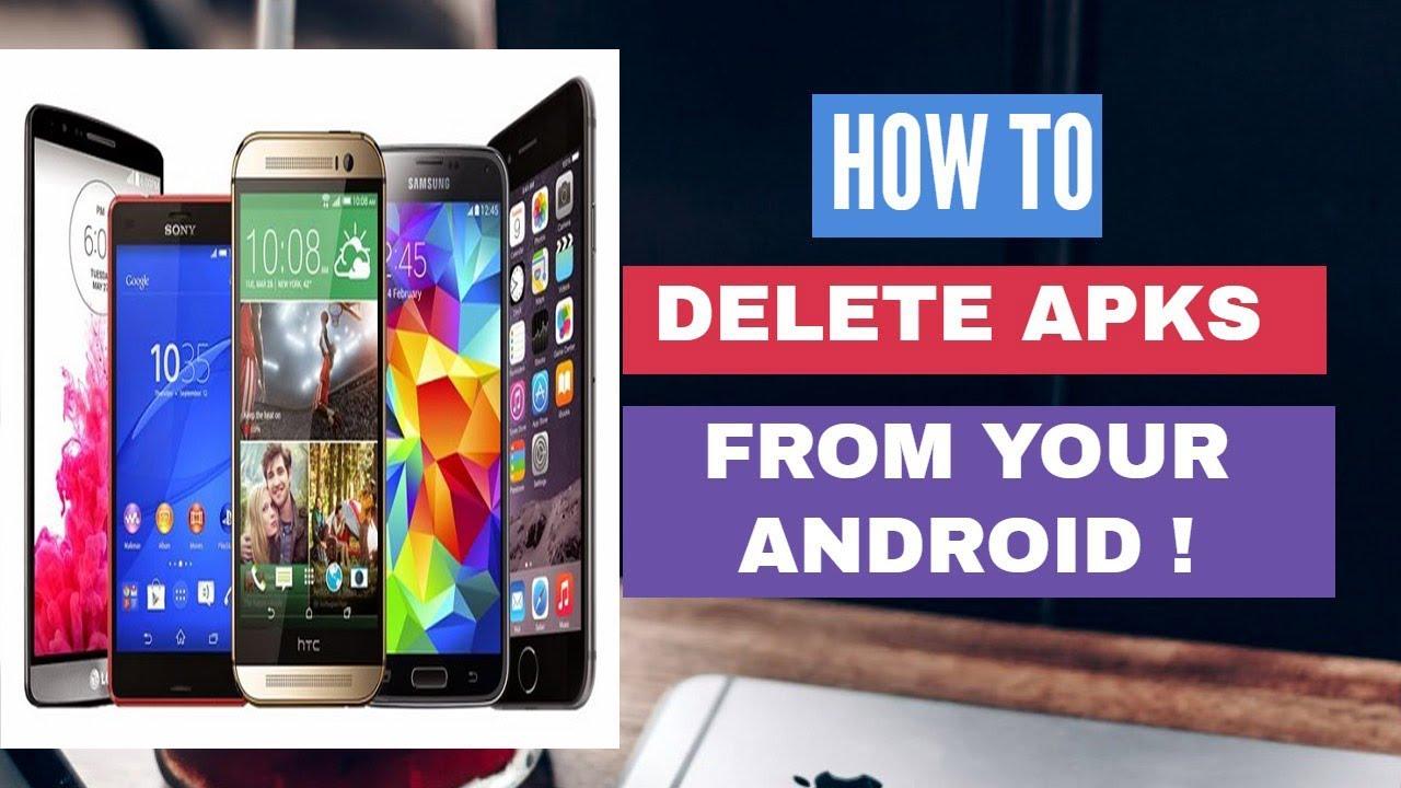 how to delete apk files