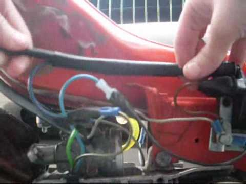 49cc scooter wiring diagram warn winch xdc schaltplan spark plug wire installation youtube