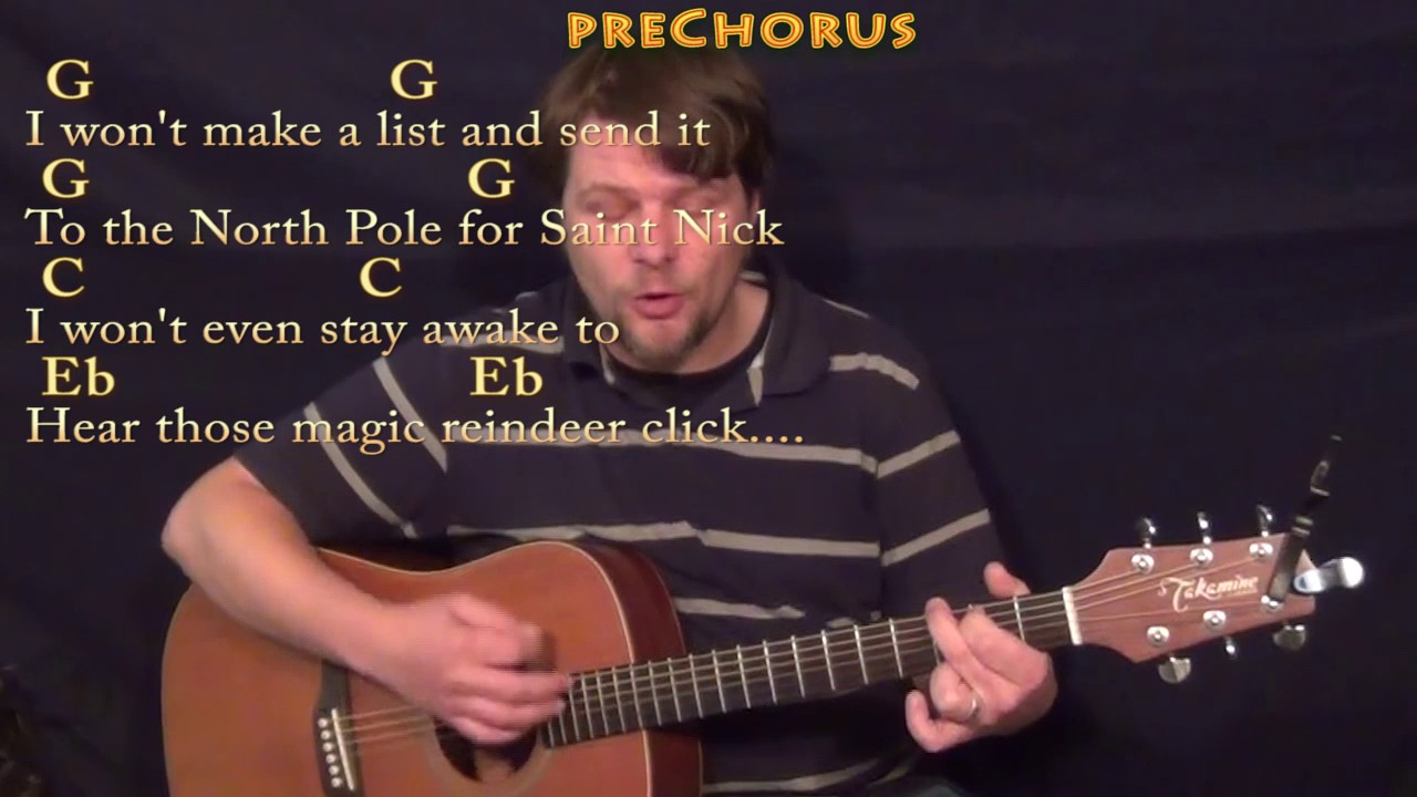 All I Want For Christmas Is You (Mariah Carey) Guitar Cover Lesson with Chords/Lyrics - YouTube