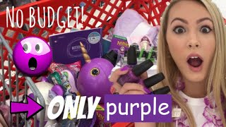 NO BUDGET (PURPLE ONLY) SHOPPING SPREE! 💜