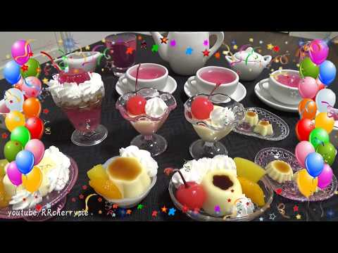 Petit Tea Party 1 - Jelly and Pudding (DIY mini sweets)