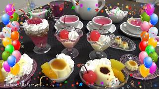 Petit Tea Party 1 - Jelly and Purin (Edible, You can eat) DIY mini sweets
