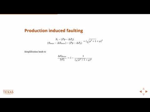 Production induced faulting, Petroleum Reservoir Engineering, Geology