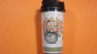 Making My Own Dollar Tree Travel Mug w/ Peg Stamps on MISTI, Masking too!