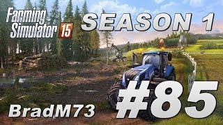 Farming Simulator 15 - Season 1 - Episode 85 - Mega chaff havest begins!!!