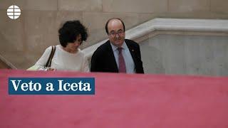 El independentismo frustra la candidatura de Iceta al Senado