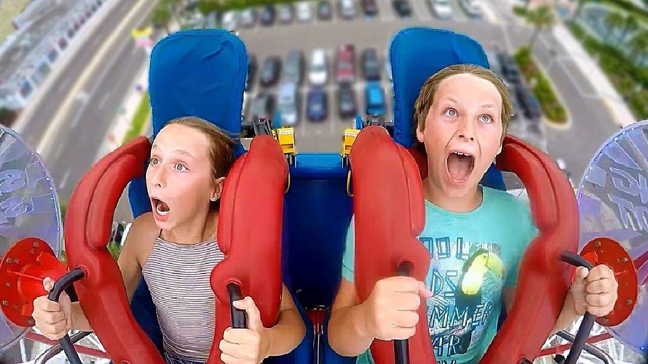 Brother Sister Funny Slingshot Ride Compilation Youtube