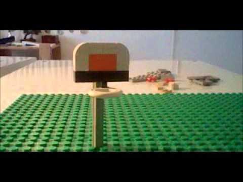 tuto 3 comment faire un panier de basket et un tranzat en lego youtube. Black Bedroom Furniture Sets. Home Design Ideas