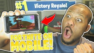 EASY SOLO WIN! - FORTNITE MOBILE iOS (Battle Royale)