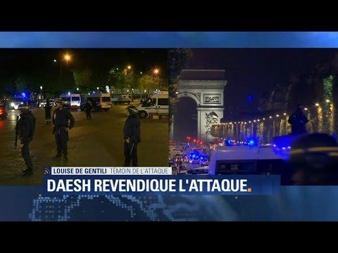"""Coups de feu sur les Champs-Elysées: """"C'est allé très vite, j'ai vu des gens se lever affolés"""""""