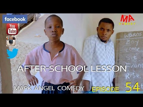 "Video (skit): Mark Angel Comedy – After School Lesson (""what's the opposite of sit?… CHAIR"")"