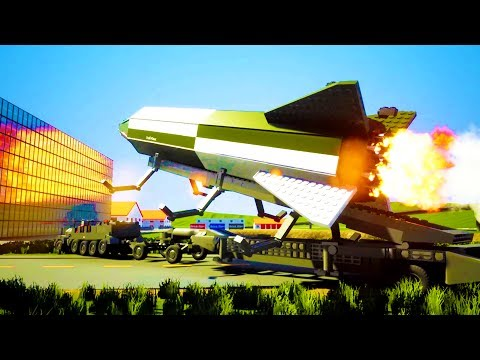 HUGE GUIDED MISSILE DESTROYS NUCLEAR BASE AND CITY! - Brick Rigs Workshop Creations Gameplay