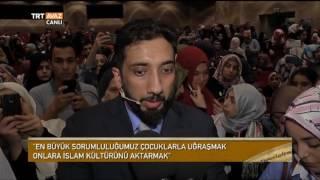 Dünyada En Etkili 500 Müslümandan Biri Kabul Edilen Nouman Ali Khan'ın Konferansı - TRT Avaz