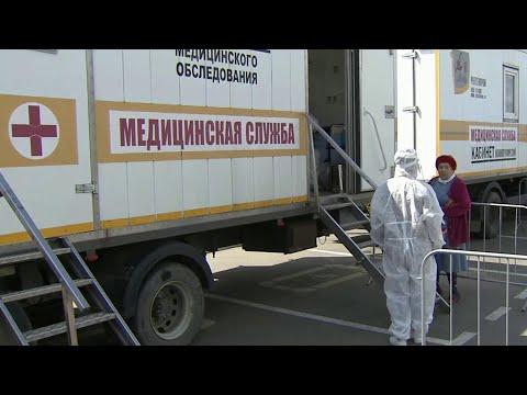 На главной площади Адыгейска проводят тестирование на COVID-19.