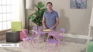 Showtime 3 Piece Childrens Folding Table And Chair Set - Product Review Video