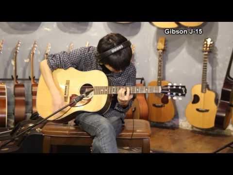Gibson J-45 vs J-15 Comparison 연주 김인섭/원미사운드