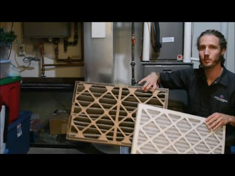 Which way does the arrow go on my furnace filter? - YouTube