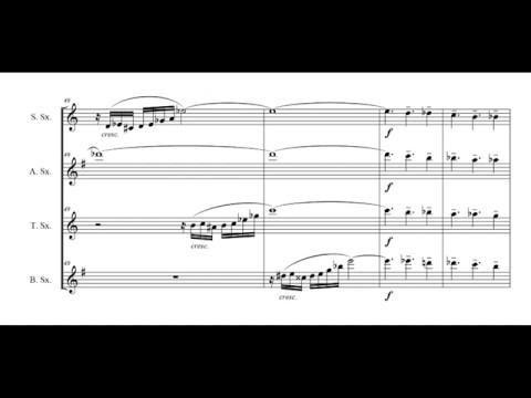 """Bachiazzola"" - for saxophone quartet  (score on video)"