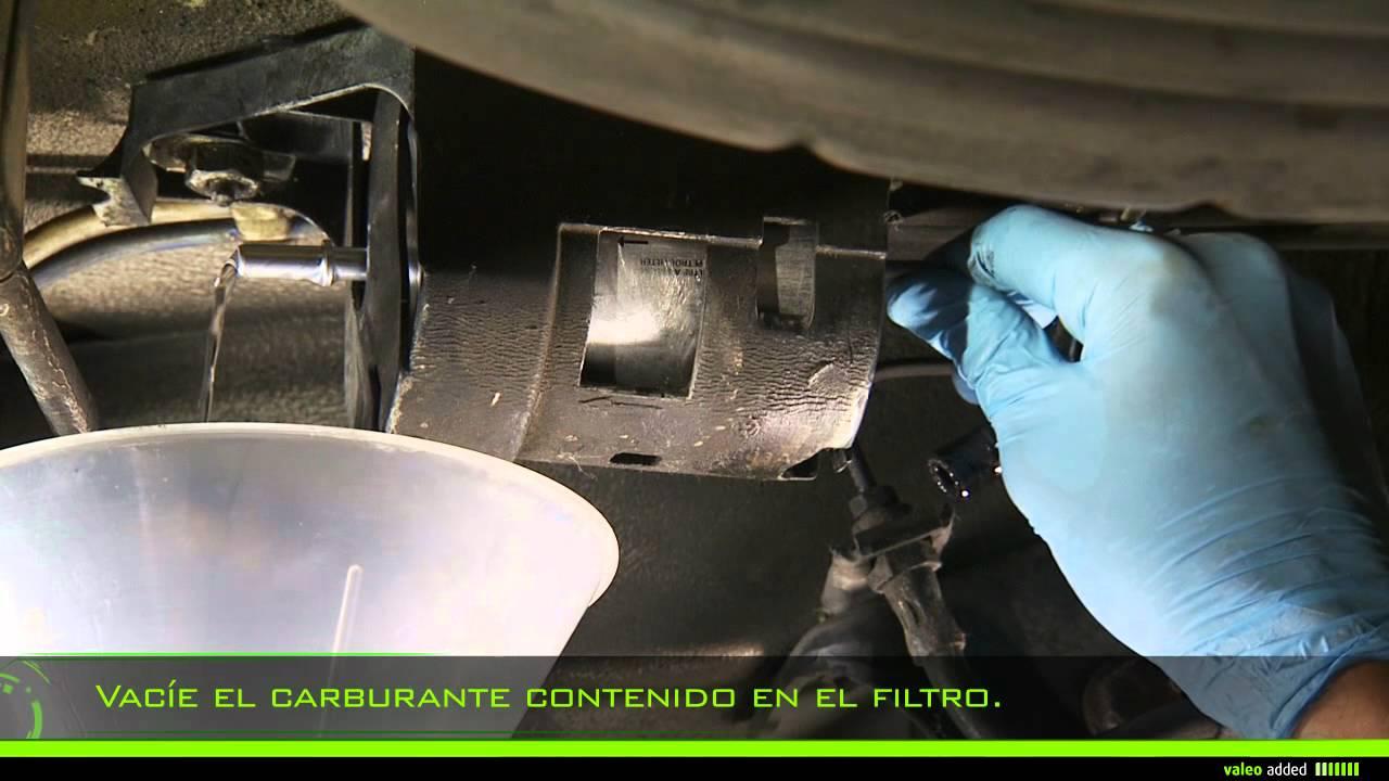 valeo fuel filter montaje de un filtro de combustible en l nea [ 1280 x 720 Pixel ]