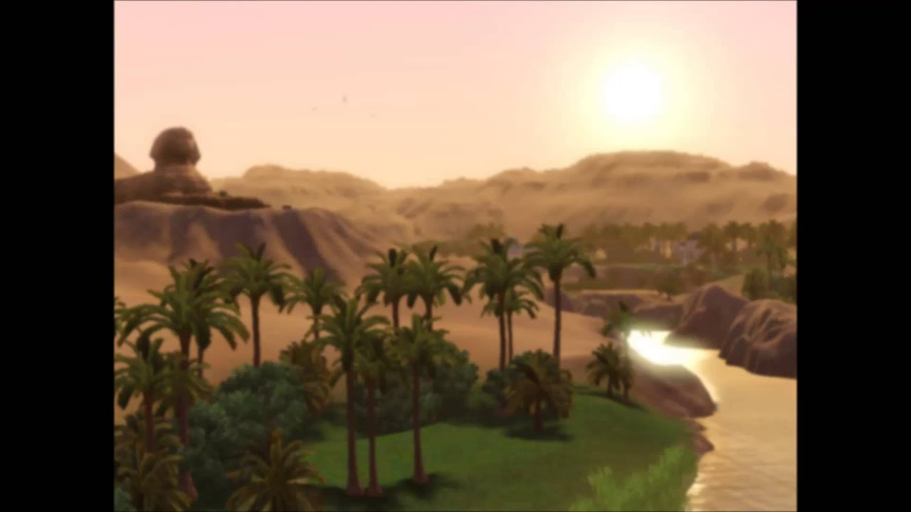 sims 3 world adventures al simhara egypt loading screen soundtrack youtube