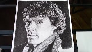 How to Draw Realistic Skin and Fabric - Cumberbatch Drawing