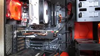обновлённый ПК. MSI B350 PC Mate  Ryzen 3 1200  Ballistix Elite DDR4