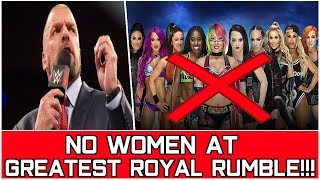 WWE WOMEN'S NOT PARTICIPATING IN GREATEST ROYAL RUMBLE!!! | Wrestling Entertainment Tamil