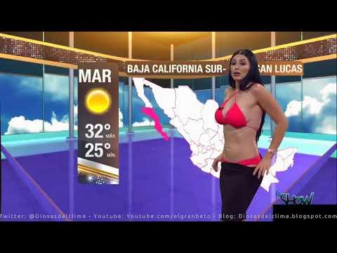 Clip hot biên tập viên thời tiết mặc bikini