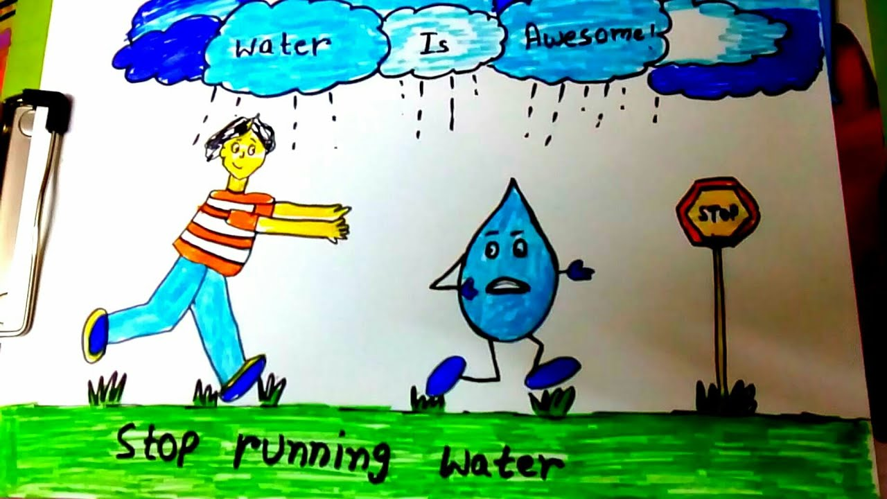easy drawing easy water pollution