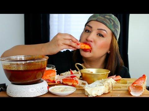 Seafood Boil King Crab, Shrimp, Szechuan Lemon Pepper Sauce Mukbang