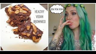 Healthy Vegan Chocolate Brownies- Finger Licking Good!