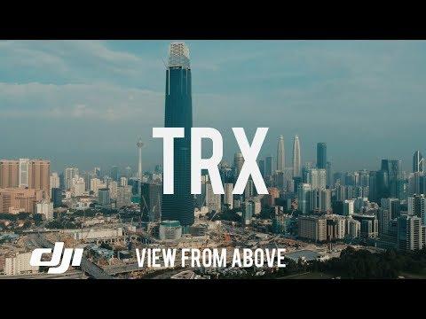 TRX - Tun Razak Exchange in Kuala Lumpur (DJI SPARK DRONE) VIEW FROM ABOVE