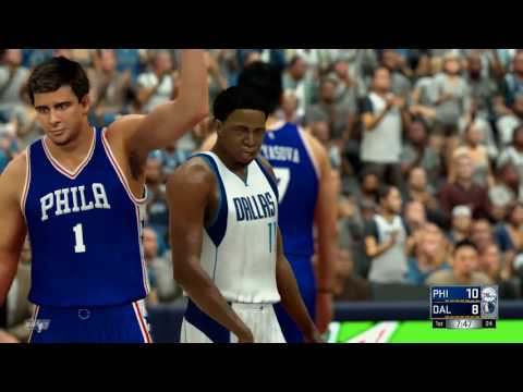 NBA 2K17 (PS4)- Philadelphia 76ers vs Dallas Mavericks - Full Game - Simulation Nation