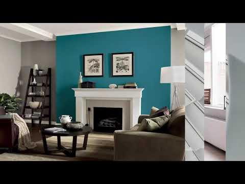 Perfekt Wohnzimmer Akzent Wandfarben Ideen