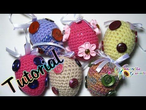 Tutorial uova di pasqua all 39 uncinetto amigurumi how to - Uova di pasqua decorati ...