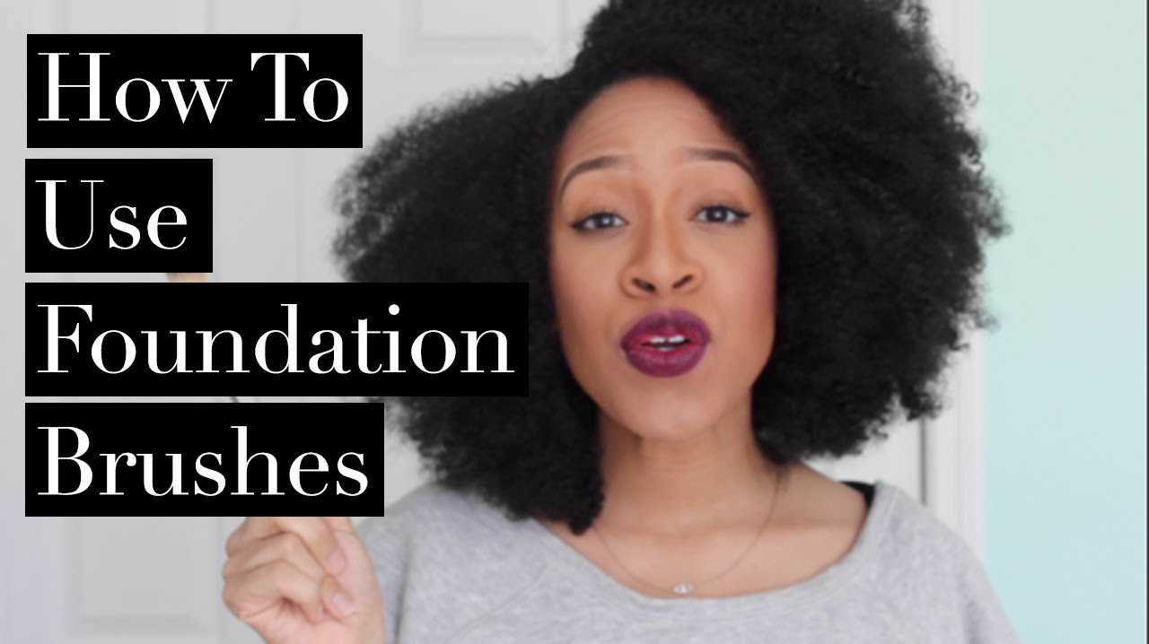 how to use a foundation brush