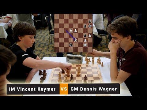IM Vincent Keymer vs GM Dennis Wagner | Blitz Chess Game | Emanuel Lasker Memorial Blitz 2018 |