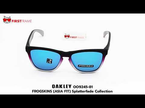 5f78ccf444 OAKLEY OO9245-81 FROGSKINS (ASIA FIT) Splatterfade Collection - YouTube