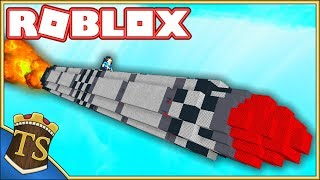FLYING ON A GIANT ROCKET! -Build A Boat For Treasure | Danish Roblox