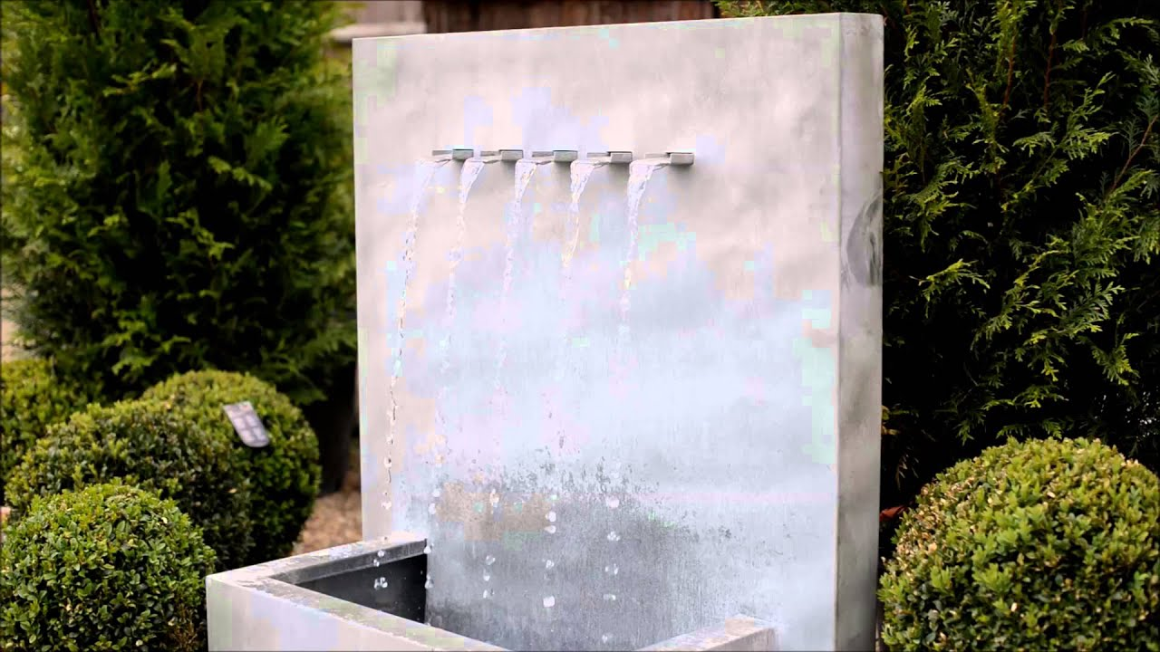 Attirant Zinc Water Feature | 5 Spout, Self Contained And Complete With Pump