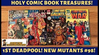 Storage Unit Unboxing #8: Comic Treasures (New Mutants #98: 1st Deadpool!) & Comic Trash!