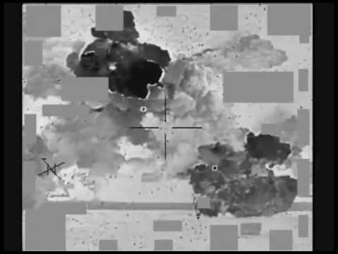 April 06 2015: Coalition airstrike on ISIL fighting position near Kobani, Syria