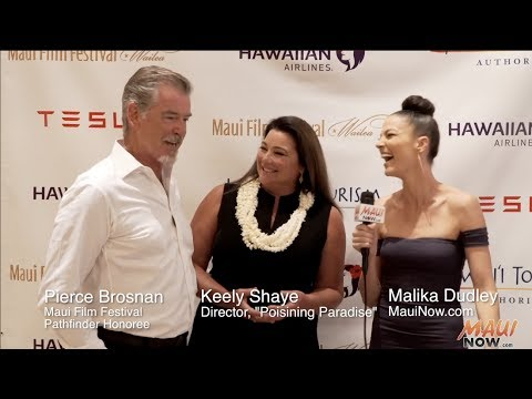 Malika Interviews Pierce Brosnan at the Maui Film Festival 2017