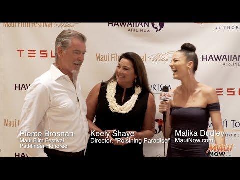Malika s Pierce Brosnan at the Maui Film Festival 2017