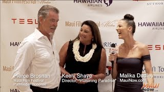 Malika Interviews Pierce Brosnan at the Maui Film Festival 2017